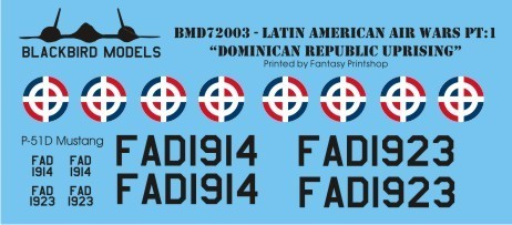 BlackBird Models Doninican Republic Uprising BMD72003