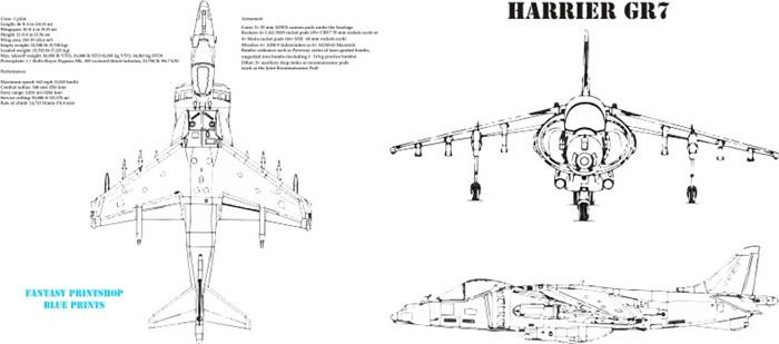 Fantasy Printshop Mug Print FPM 203 Harrier GR7