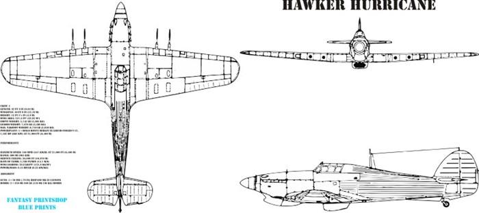 Fantasy Printshop Mug Print FPM 304 Hawker Hurricane