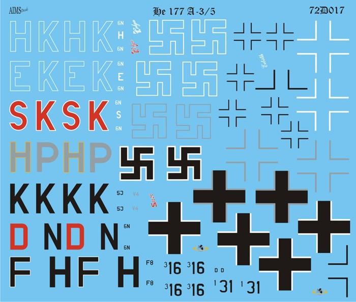 Aims He177 A-3 & A-5 72D017