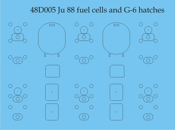 Aims Ju 188 Fuel Cells and G-6 Hatches 48D005