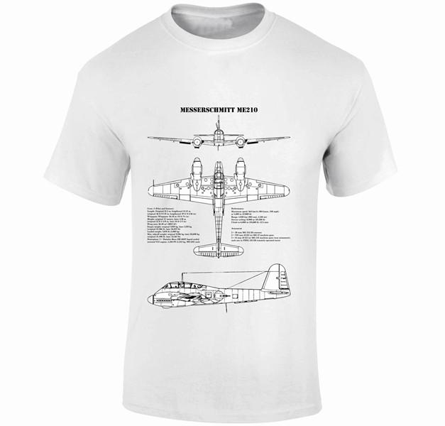 Fantasy Printshop Blue print T shirts Messerschmitt Me210
