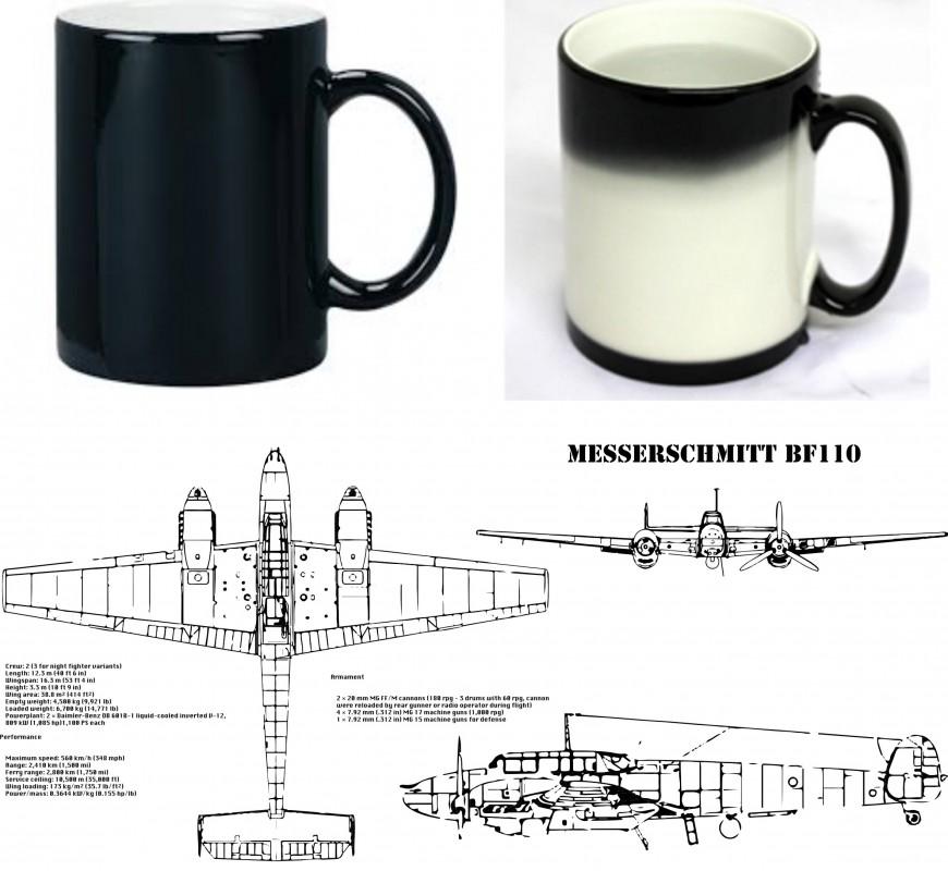 Fantasy Printshop Mug print FPM 101 Messerchmitt BF101