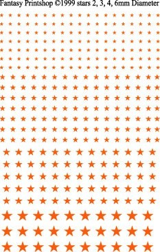 Fantasy Printshop Gold Stars decals FP501