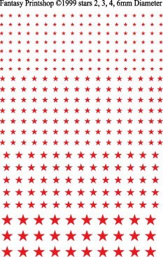 Fantasy Printshop Stars Red decals FP503