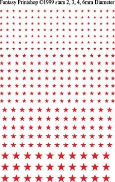 Fantasy Printshop Stars Red decals FP503