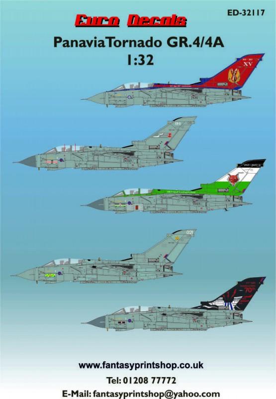 Euro Decals ED32117 Panavia Tornado GR.4-4A Decals