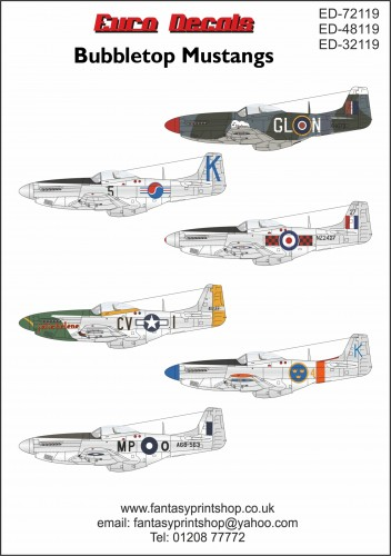 Euro Decals north american mustang ED32-119