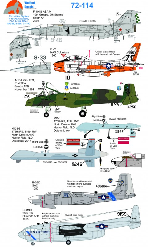 Wolfpak 72-114 Star Fighters