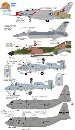 Wolfpak 720-052 Purple Haze INS f-100 f-16 a-10 f-4 c-130 jets JET FALCON PHANTOM HERCULES SABRE