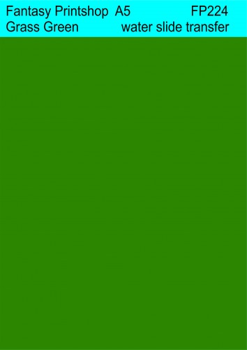 Fantasy Printshop water slide transfers FP224 Grass Green A5 decals