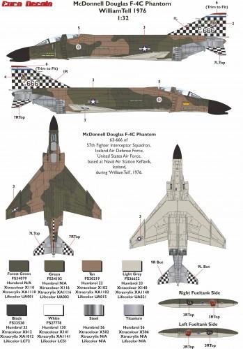 ED-32125 McDonnell Douglas F-4C Phantom William Tell 1976