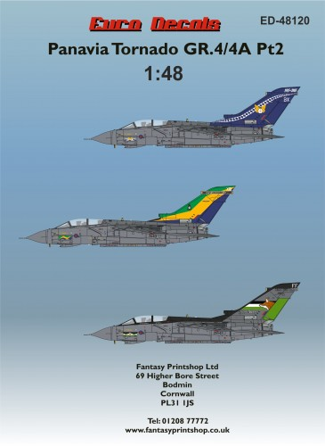 ED-48120 Panavia Tornado GR.4-4A Pt2 48 scale Printed by Fantasy Printshop