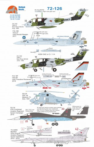 Wolfpak Decals SHARUR 72-126