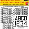 FPRC893 16mm BLACK RAF Serial Numbers and Letters radio control RC Pre Cut vinyl