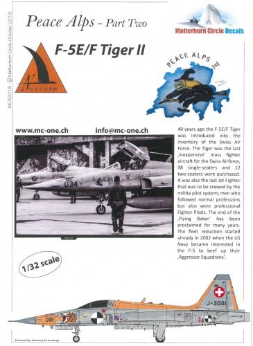 MatterHorn Circle MC32018 F-5E F Tiger Peace Alps Part two
