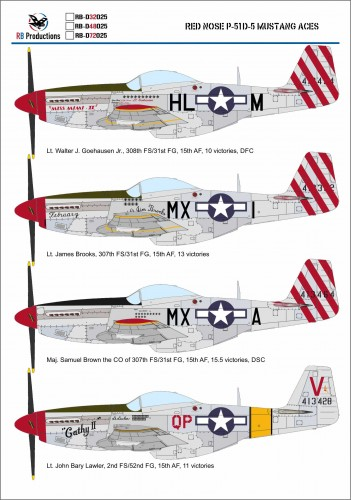 RB D productions Red Nose P-51D-5 Mustang Aces