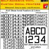 FPRC895 20mm BLACK RAF Serial Numbers and Letters radio control RC Pre cut vinyl letters