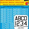 FPRC895 20mm WHITE RAF Serial Numbers and Letters radio control RC Pre Cut vinyl letters