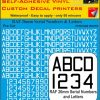 FPRC898 26mm WHITE RAF Serial Numbers and Letters radio control RC Pre Cut vinyl letters