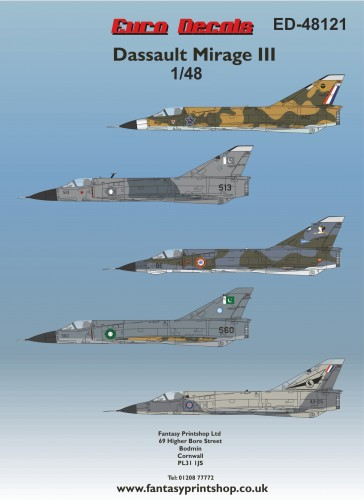 Euro Decals Dassault Mirage 111 header ED-48121