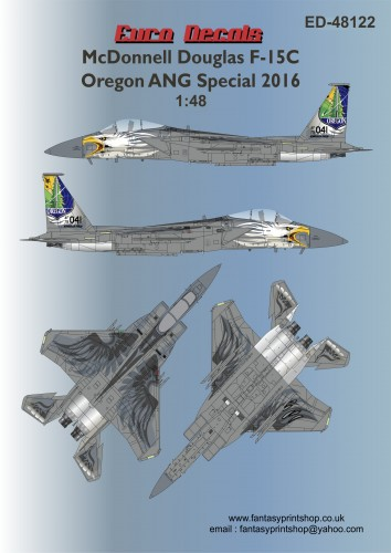 EuroDecals McDonnell Douglas F-15C Oregon ANG Special 2016 advert 48122 decals