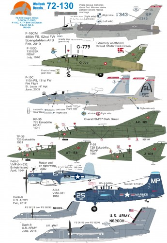 Wolfpak 72-130 Dragon Wings Decals transfers