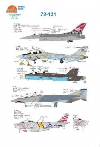 Wolfpak 72-131 Flying Fiends Decals Transfers
