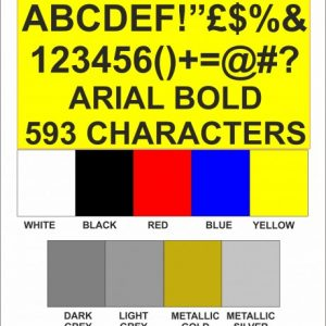 Arial Font Letters and Numbers
