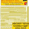 Radio Control Arial 16mm stickers decals characters pre cut in metallic gold