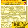 Radio Control Arial 26mm stickers decals characters pre cut in metallic gold