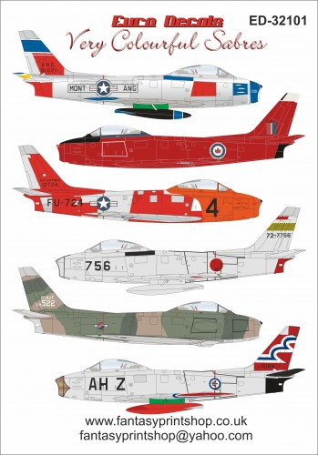 Very colourfull sabres 1/32 Euro Decals