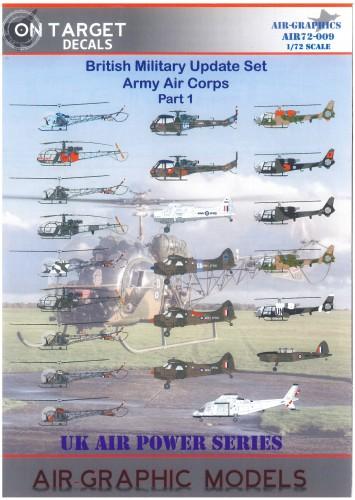 ON Target Decals 72-009 British Army Air Corps printed by fantasy printshop