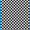 Fantasy Printshop A4 BLACK chequered 10MM squares on white background vinyl stickers FPRC7010B