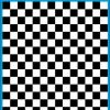 Fantasy Printshop A5 BLACK chequered 10MM squares on white background vinyl stickers FPRC710B
