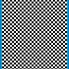 Fantasy Printshop A5 BLACK chequered 4MM squares on white background vinyl stickers FPRC704B