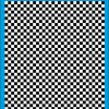 Fantasy Printshop A4 BLACK chequered 6MM squares on white background vinyl stickers FPRC706B