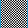 Fantasy Printshop A5 BLACK chequered 6MM squares on white background vinyl stickers FPRC706B