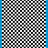Fantasy Printshop A4 BLACK chequered 8MM squares on white background vinyl stickers FPRC708B