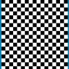 Fantasy Printshop A5 BLACK chequered 8MM squares on white background vinyl stickers FPRC708B