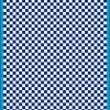 Fantasy Printshop A5 BLUE chequered 4MM squares on white background vinyl stickers FPRC704BL