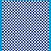 Fantasy Printshop A4 BLUE chequered 6MM squares on white background vinyl stickers FPRC706BL
