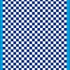 Fantasy Printshop A4 BLUE chequered 8MM squares on white background vinyl stickers FPRC708BL