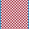 Fantasy Printshop A4 DARK RED chequered 10MM squares on white background vinyl stickers FPRC710DKR