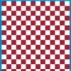 Fantasy Printshop A5 DARK RED chequered 10MM squares on white background vinyl stickers FPRC710DKR