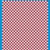 Fantasy Printshop A4 DARK RED chequered 6MM squares on white background vinyl stickers FPRC706DKR