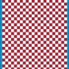 Fantasy Printshop A5 DARK RED chequered 6MM squares on white background vinyl stickers FPRC706DKR