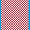 Fantasy Printshop A4 DARK RED chequered 8MM squares on white background vinyl stickers FPRC708DKR