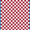 Fantasy Printshop A5 DARK RED chequered 8MM squares on white background vinyl stickers FPRC708DKR