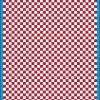 Fantasy Printshop A5 DARK RED chequered 4MM squares on white background vinyl stickers FPRC704DKR